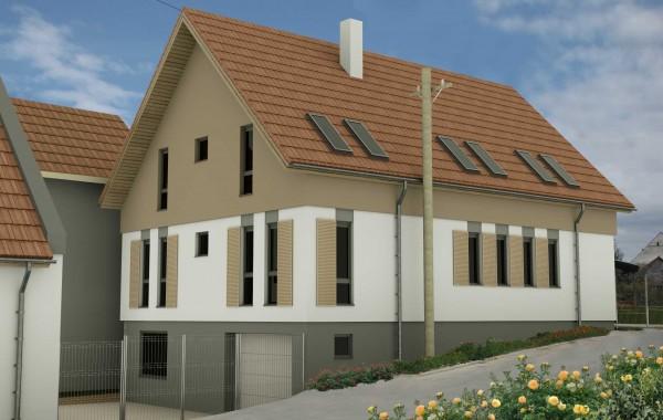 Casa unifamiliala demisol parter si mansarda (D+P+M) Racovita jud. Sibiu